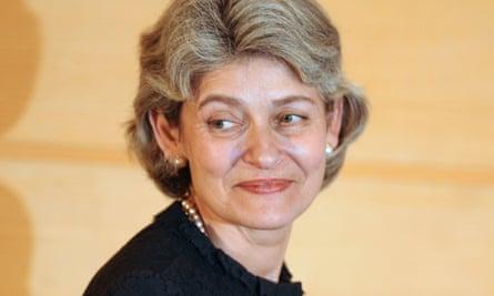 Head of Unesco, Irina Bokova from Bulgaria