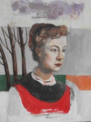 A portrait of Lolly Willowes painted in 1987 by Bridget Strevens Romer.
