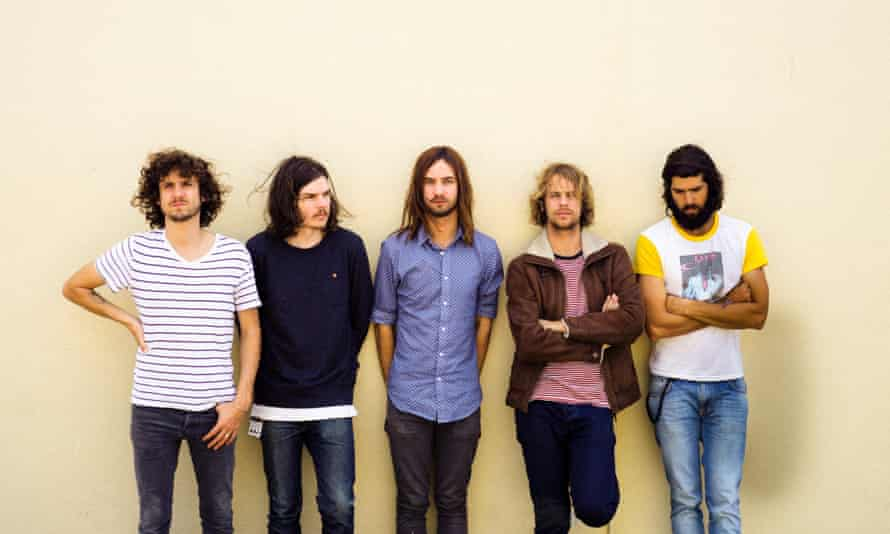 Antelope music: Kevin Parker with the rest of Tame Impala.