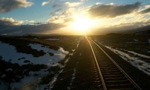 Sunrise over the west highland line, Scotland