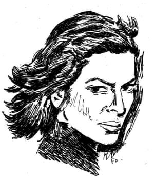 Bianca Jagger drawn by Fionnuala Doran