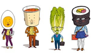 Working lunch illos