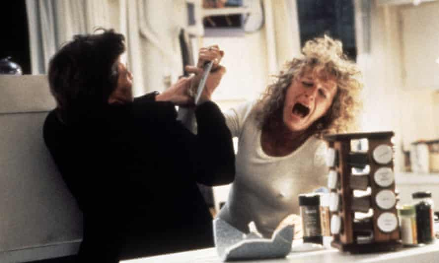 Michael Douglas and Glenn Close in the 1987 hit Fatal Attraction.