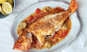 Roast red sea bream