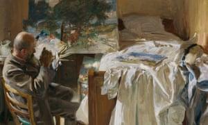 Detail from An Artist in His Studio (Ambrogio Raffele), 1904