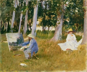 Claude Monet Painting by the Edge of a Wood, 1885