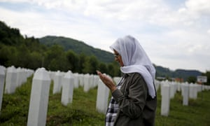 Hajra Catic visits the grave of her husband, who was shot in a mass execution and whose body was found buried under a rubbish tip in a nearby town. The remains of her son Nino have yet to be found.