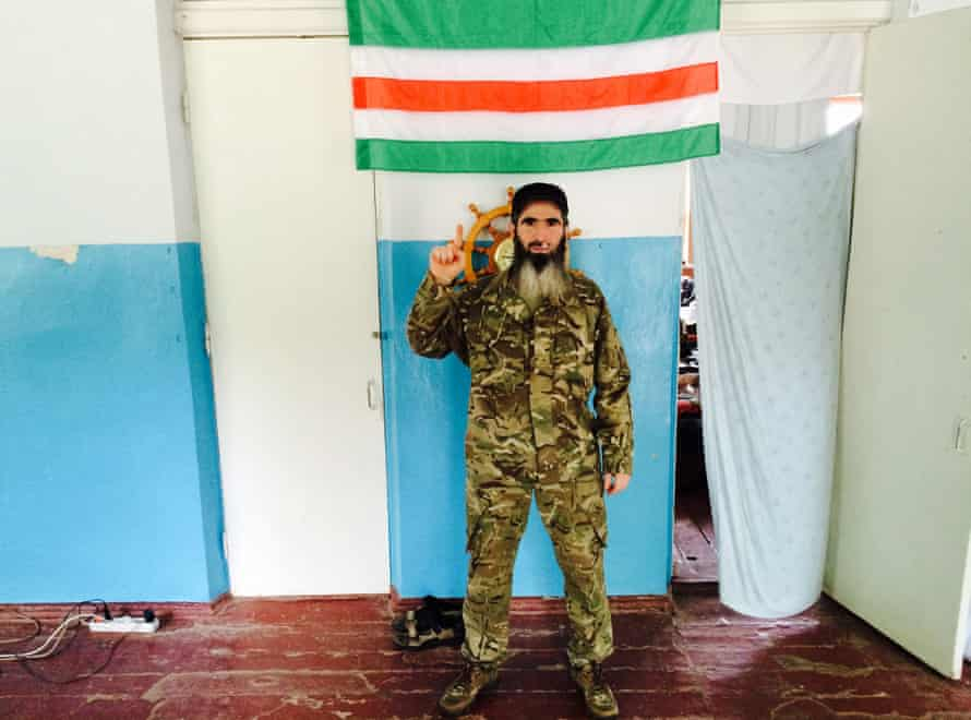 """""""Muslim"""", commander of the Sheikh Mansur volunteer battalion, fighting with Ukrainian forces outside Mariupol."""