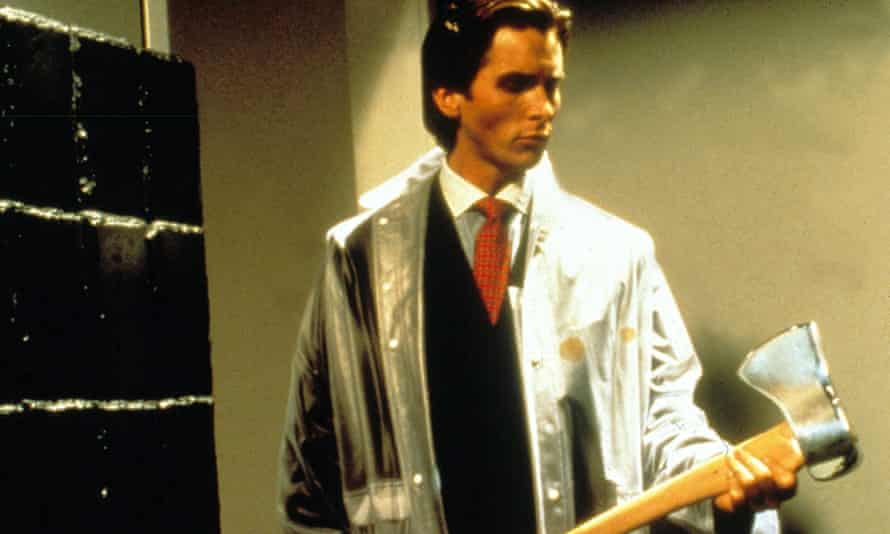 Book in a bag … American Psycho must come wrapped in plastic.