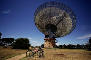 The Parkes Observatory radio telescope in New South Wales, Australia.