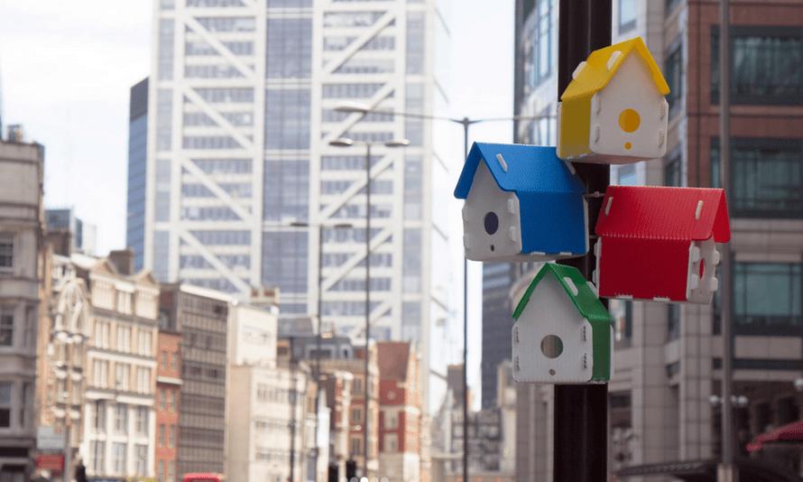 Nest Project birdhouses in London