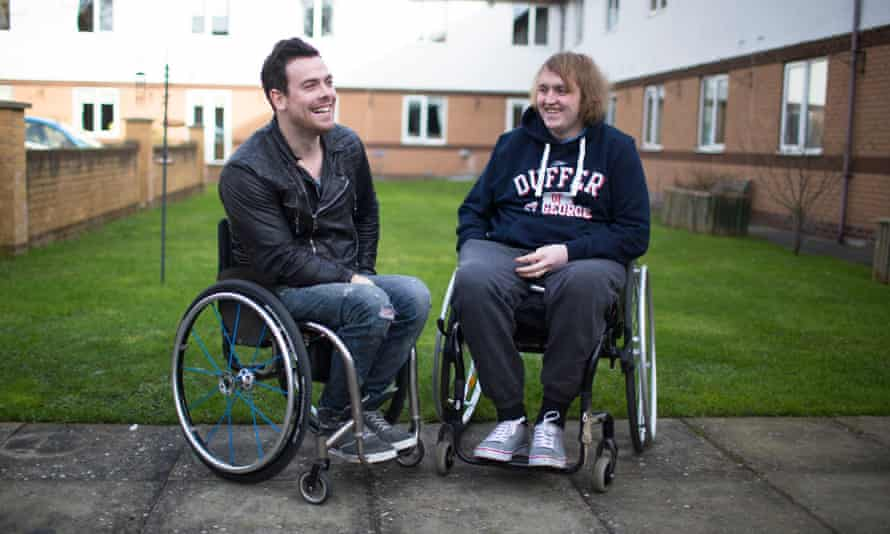 Peter Mitchell and Billy Taylor in BBC3's Disabled In An Instant.