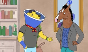 Accidental hero? Mr Peanutbutter and Bojack.