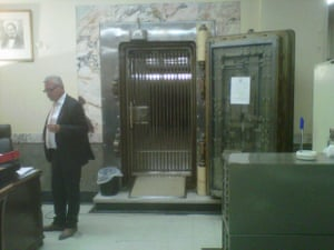 Bank of Greece vaults, where deposit boxes are kept