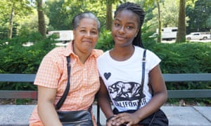 Naima Bartholomew and her mother, Juliet, in Brooklyn.