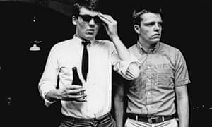 Suggs (Graham McPherson) of Madness wears a Ben Sherman shirt in this early 1980s photograph also featuring bandmate Mike Barson (left).