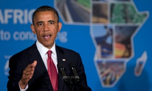 President Barack Obama speaking in Dar Es Salaam, Tanzania.