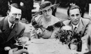 Goebbels and his wife, Magda, with Adolf Hitler.