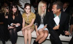 Actress Emma Watson (centre left) is a brand ambassador for Burberry.