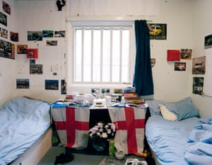 Each room in the category B prison holds two men ... Photograph: Nana Varveropoulou