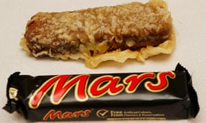 Chip shop asked to remove Mars bar banner