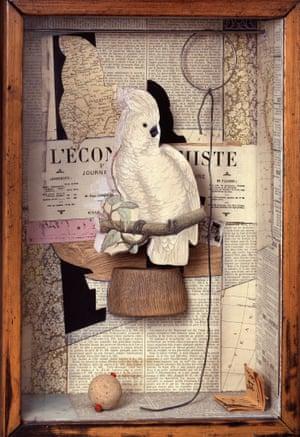 <em> A Parrot for Juan Gris</em>, 1953-54. Courtesy of Quicksilver/The Joseph and Robert Cornell Memorial Foundation/Vaga, NY/Dacs.