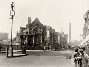 Looking north on Norton Folgate towards Shoreditch High Street in April 1912.