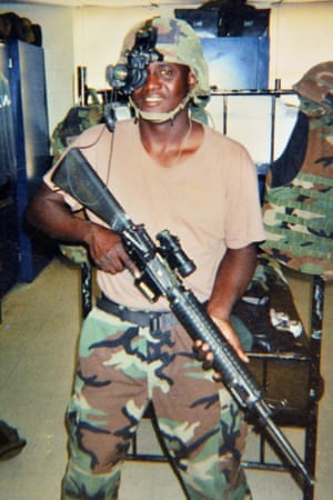 Njaga Jagne when he was in the US army.