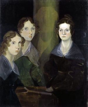 Branwell Brontë's 'pillar portrait' of the sisters (from left, Anne, Emily and Charlotte). Photograph: National Portrait Gallery/Corbis