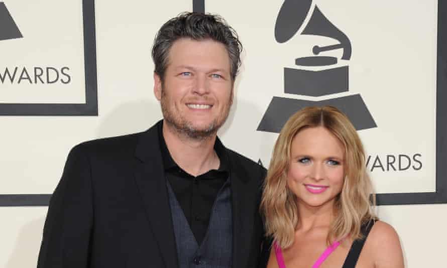 Miranda Lambert and Blake Shelton at the Grammys in Febuary.