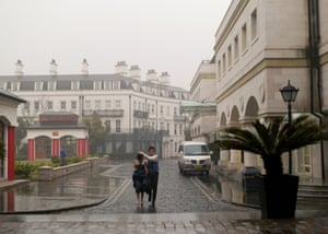 The otherwise deserted streets of Thames Town and other Euro towns are used by young Chinese couples as backdrops for their wedding photos. Their failure has become symbolic of the EU's economic decline