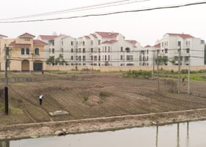 Farmland outside mostly empty residential buildings in Spanish town. The town seems to be having a permanent siesta, waking up in the evening when the local karaoke bar opens