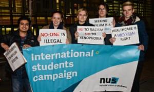 NUS international student protest