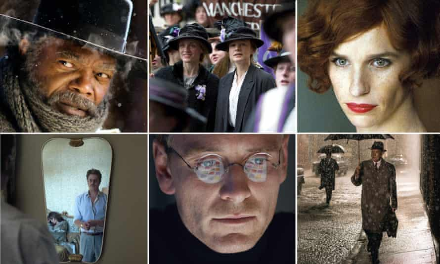 The Hateful Eight, Suffragette, The Danish Girl, By The Sea, Steve Jobs and Bridge of Spies.