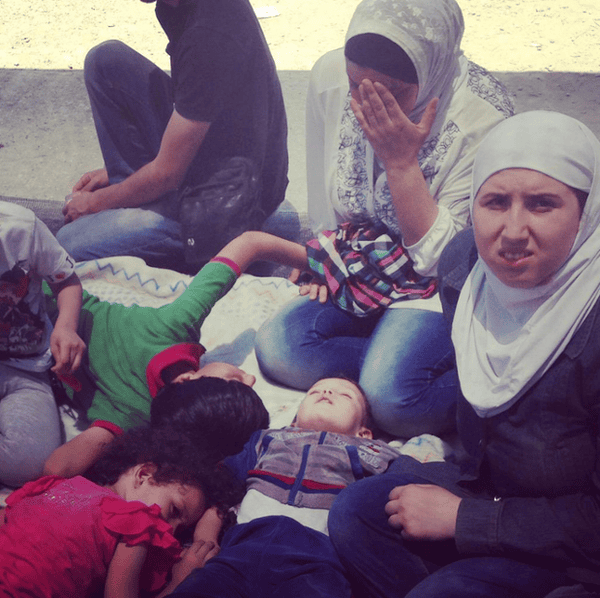 This family fled war in Syria, now they are sleeping under olive trees in Greece.