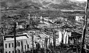 After the atom bomb: Nagasaki in ruins.