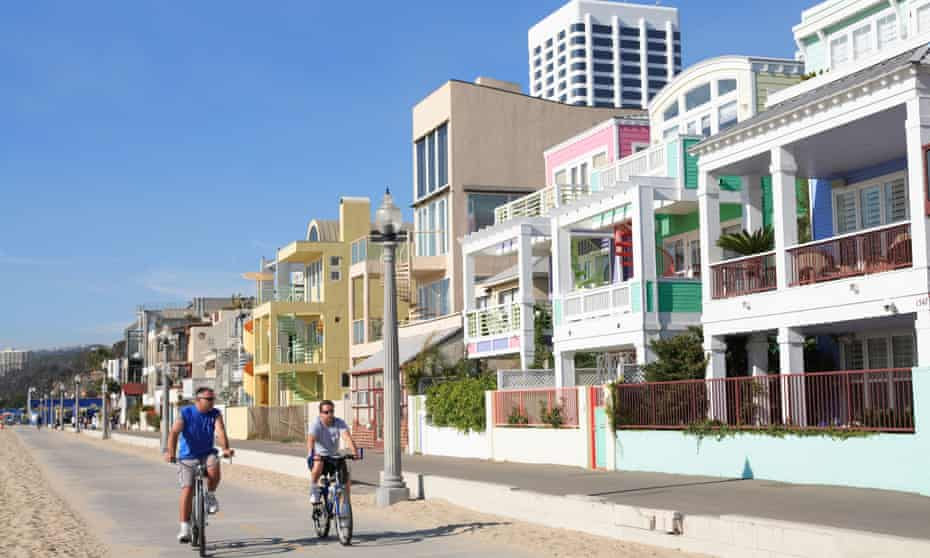 Santa Monica is home to miles of coastline, the Santa Monica mountains and striking southern-Californian architecture.