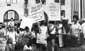 A women's liberation demonstration in New York in 1971