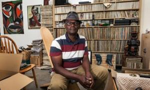 Art imitates home life … Photographer Vanley Burke in the Ikon Gallery, Birmingham.
