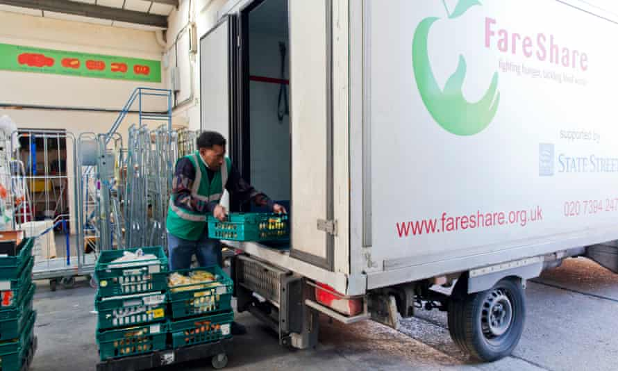 Loading food into FareShare van