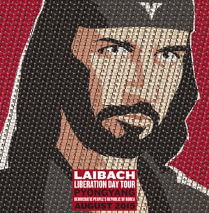 Poster announcing Laibach's two concerts in Pyongyang next month.