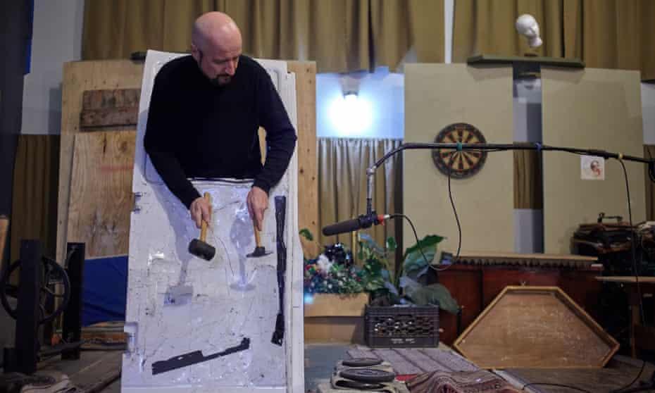Marko Costanzo in the Foley studio, NJ.