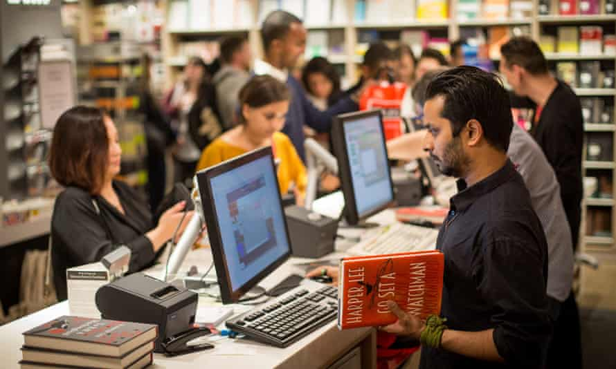 Customers at a Foyles bookshop in London the night (or morning) Go Set a Watchman hit store shelves.