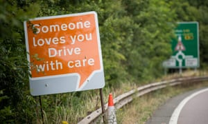 Road sign: Someone loves you. Drive with care