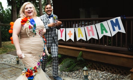 Lindy West's wedding day