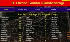 Cherno Samba's impressive in-game stats enabled his virtual presence to overtake his real-life career.