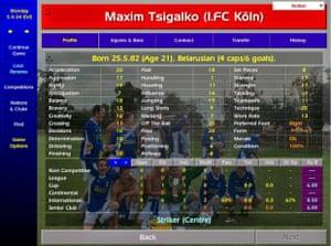 The acceleration and finishing stats for Maksim Tsyhalka – aka Maxim Tsigalko – made him a firm favourite