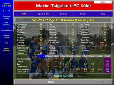 The acceleration and finishing stats for Maksim Tsyhalka – aka Maxim Tsigalko – made him a firm favourite