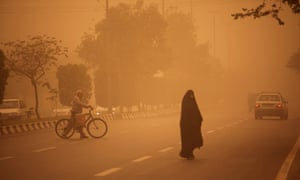 A heavy sand storm hits the city of Ahvaz in the southwestern province of Khuzestan, Iran.