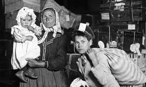 Bringing stories with them … an Italian mother with her three children arrive at Ellis Island, New York.